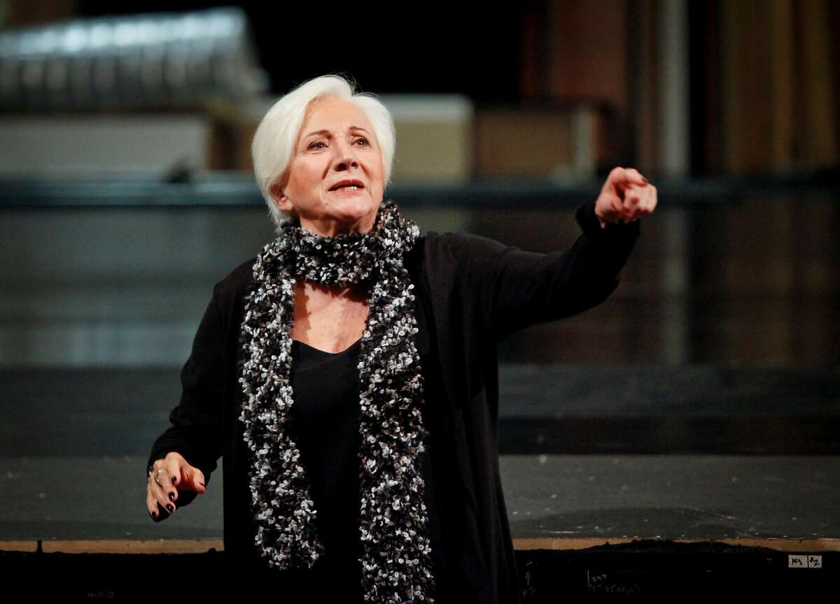 """Olympia Dukakis rehearses for an American Conservatory Theater production of """"Elektra"""" at the Geary Theater in San Francisco in October 2012. Dukakis became a trustee at ACT."""