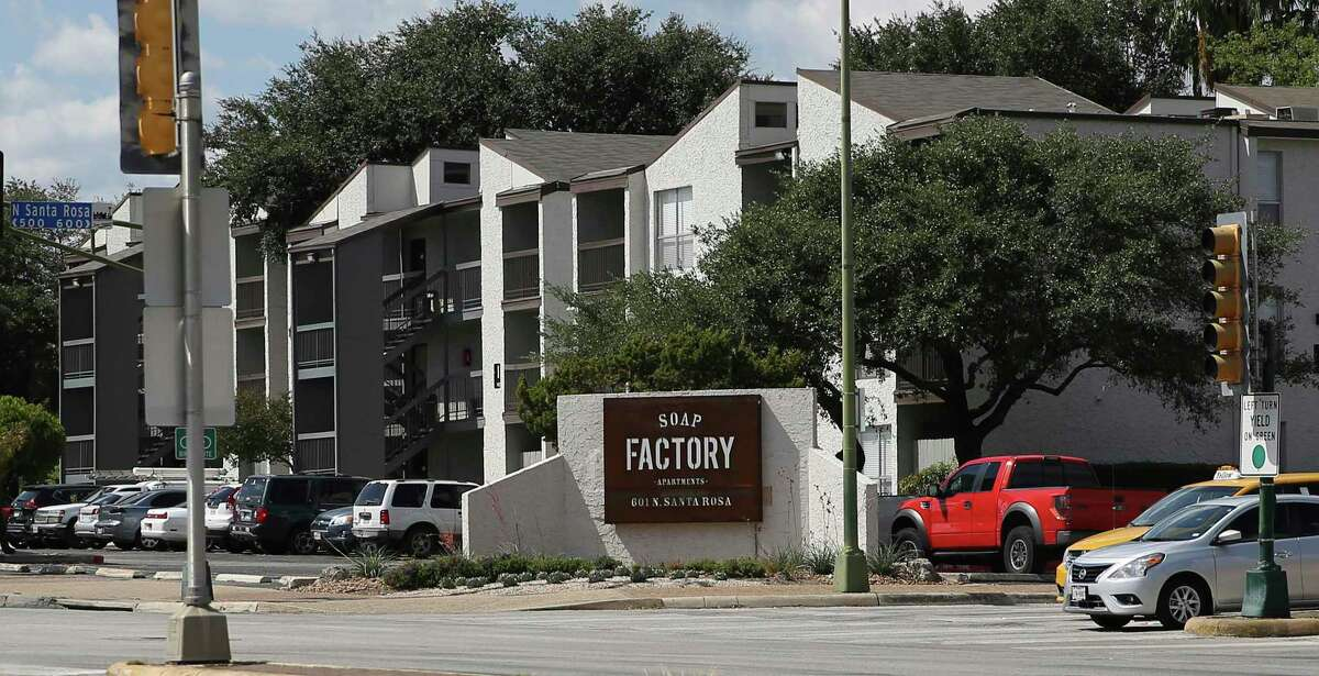 FILE PHOTO - The Soap Factory apartment complex at 500 N. Santa Rosa St. The property's Houston-based owners have been raising residents' rents since they bought the complex in 2017. Mayor Ron Nirenberg has made it a priority to increase affordable housing. The passage of Proposition A would make that possible. (Kin Man Hui/San Antonio Express-News)