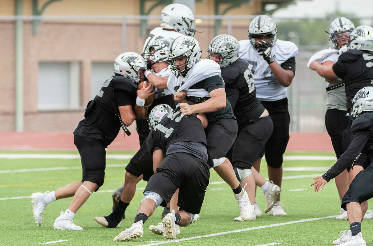 United South held its first padded practice of spring football on Friday.