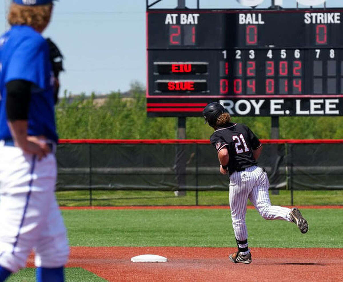 SIUE's Richie Wells hit a pair of home runs in a 15-10 loss to Eastern Illinois in the first game of a doubleheader on Saturday in Edwardsville.