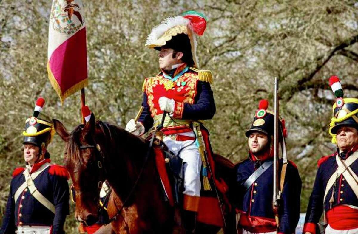 Martin Vasquez, proprietor of a gift shop on Alamo Plaza, is Mexican General Antonio Lopez de Santa Anna in his spare time.