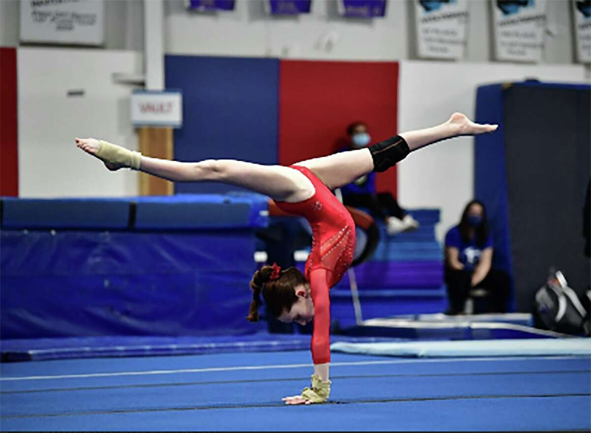 Maddie McGivney of Darien YMCA Gymnastics performs her floor routine during the Level 4-6 Connecticut State Championships, April 9-11.