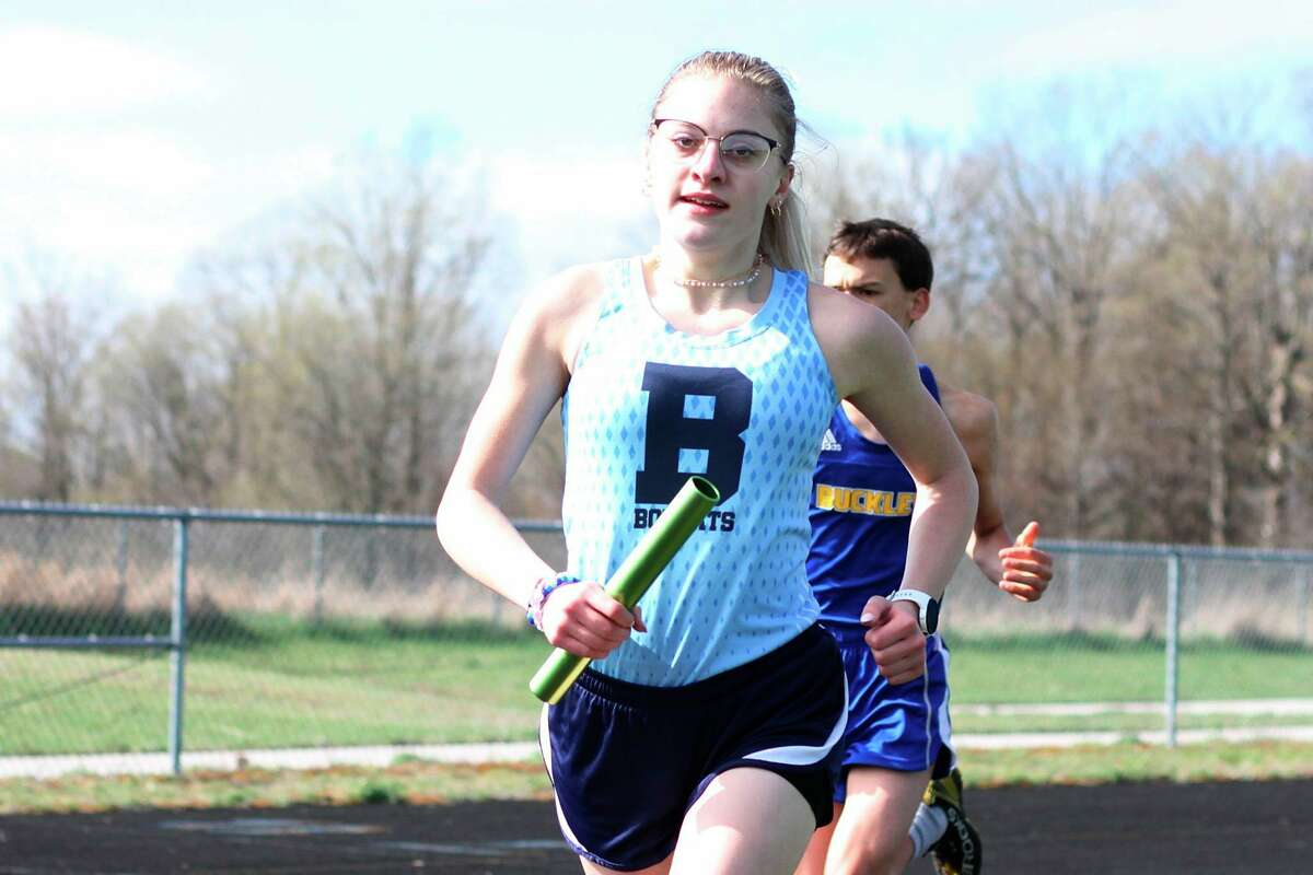 Alexis Tracy and the Brethren Bobcats competed in the Manton Ranger Relays on Saturday. (News Advocate file photo)