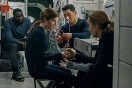 """From left, Shamier Anderson, Anna Kendrick, Daniel Dae Kim and Toni Collette in """"Stowaway."""""""