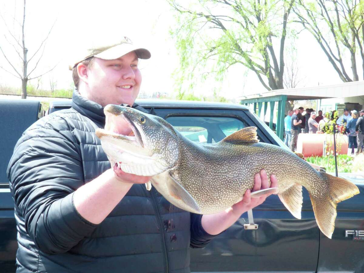 The largest fish caught in the spring Small Boat Big Fish tournament was a 23 pound Lake Trout caught byJim Clarkand his crew. (Scott Fraley/News Advocate)