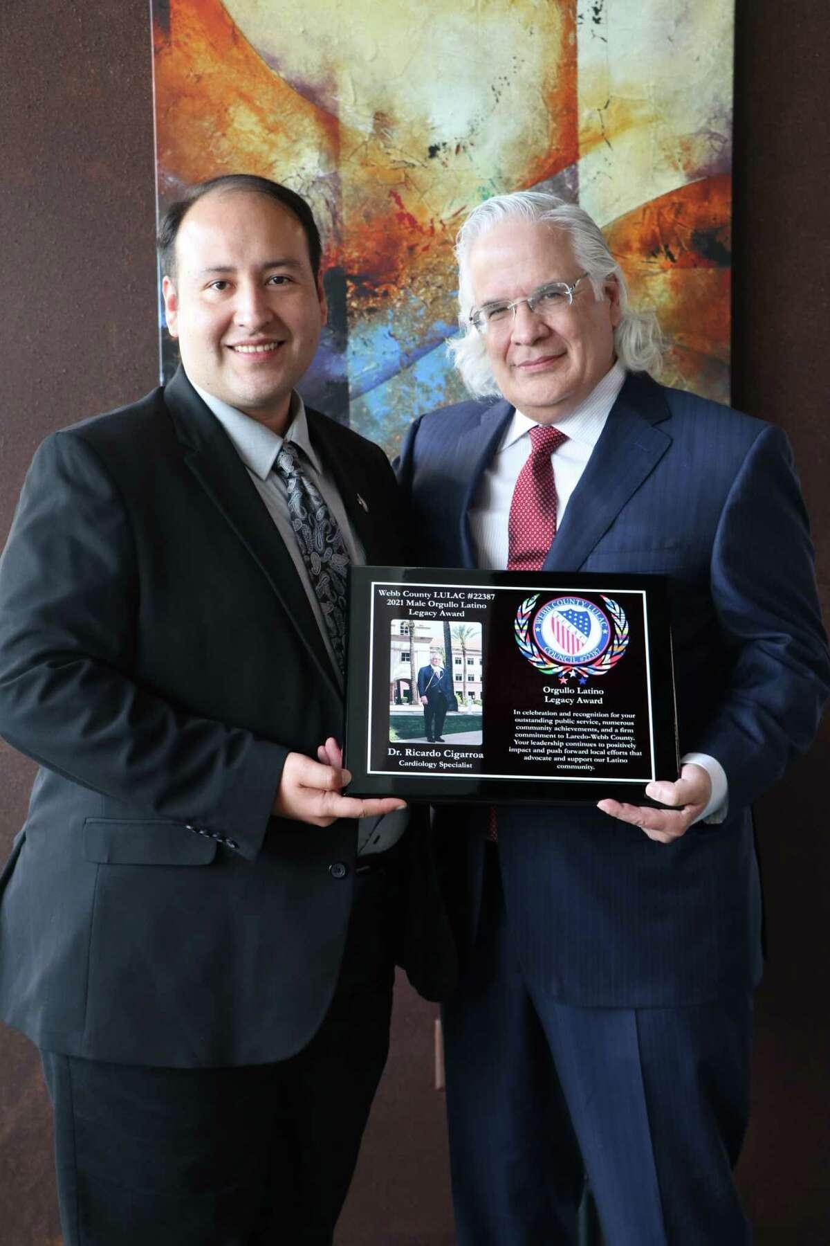 Dr. Ricardo Cigarroa is the 2021 Male Orgullo Latino Legacy Award winner.