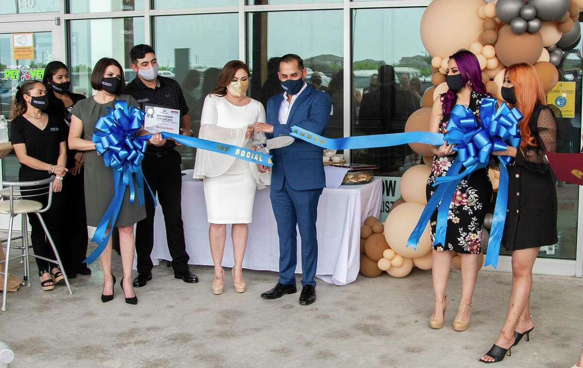 The Social Barber opened during the pandemic and held an official ribbon-cutting ceremony on April 16, 2021.