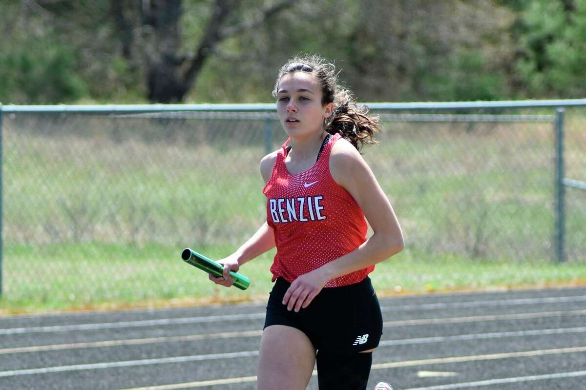 Cierra Guay races for the Huskies in a meet earlier this season. (Courtesy photo)