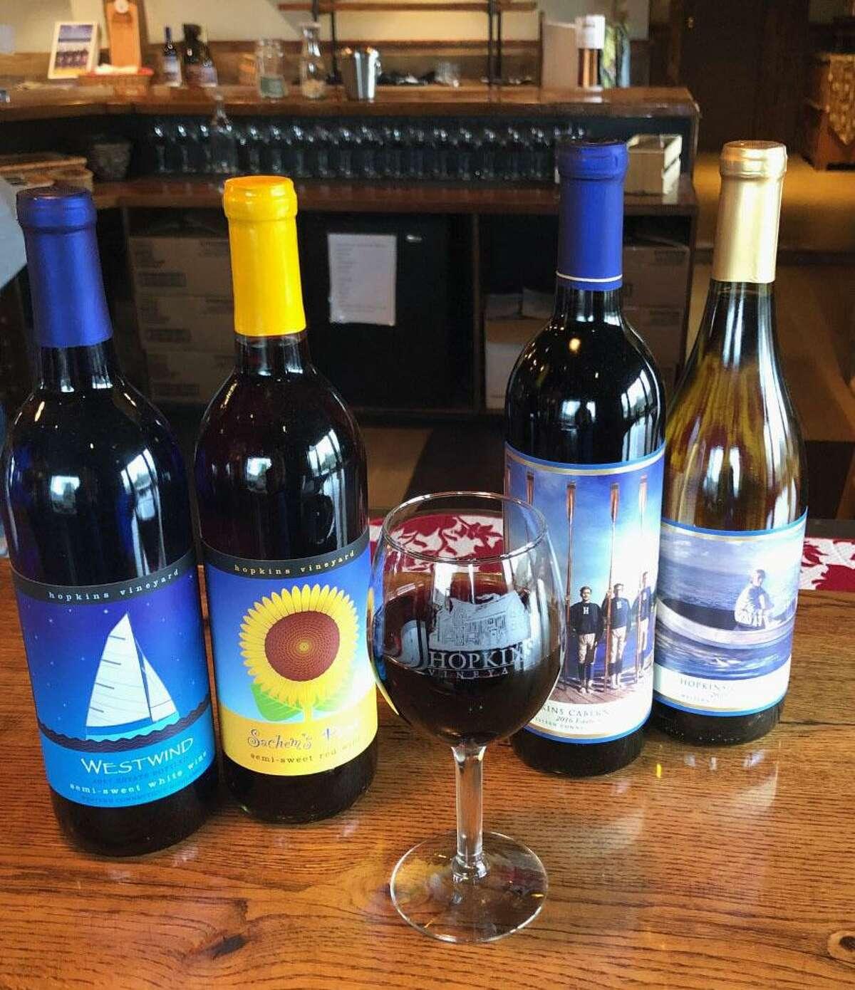 Hopkins Vineyard in Warren is part of the Connecticut Wine Trail.