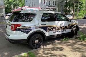 A New Haven police cruiser