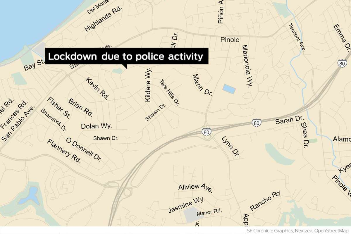 A shelter-in-place order was issued Monday morning in a residential neighborhood in Pinole due to police activity.
