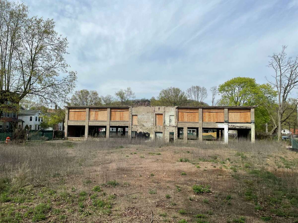 The former site of the Lehman Brothers printing company at 191 Foster Street in New Haven, Conn. has for several years been slated for condominium development. April 28, 2021