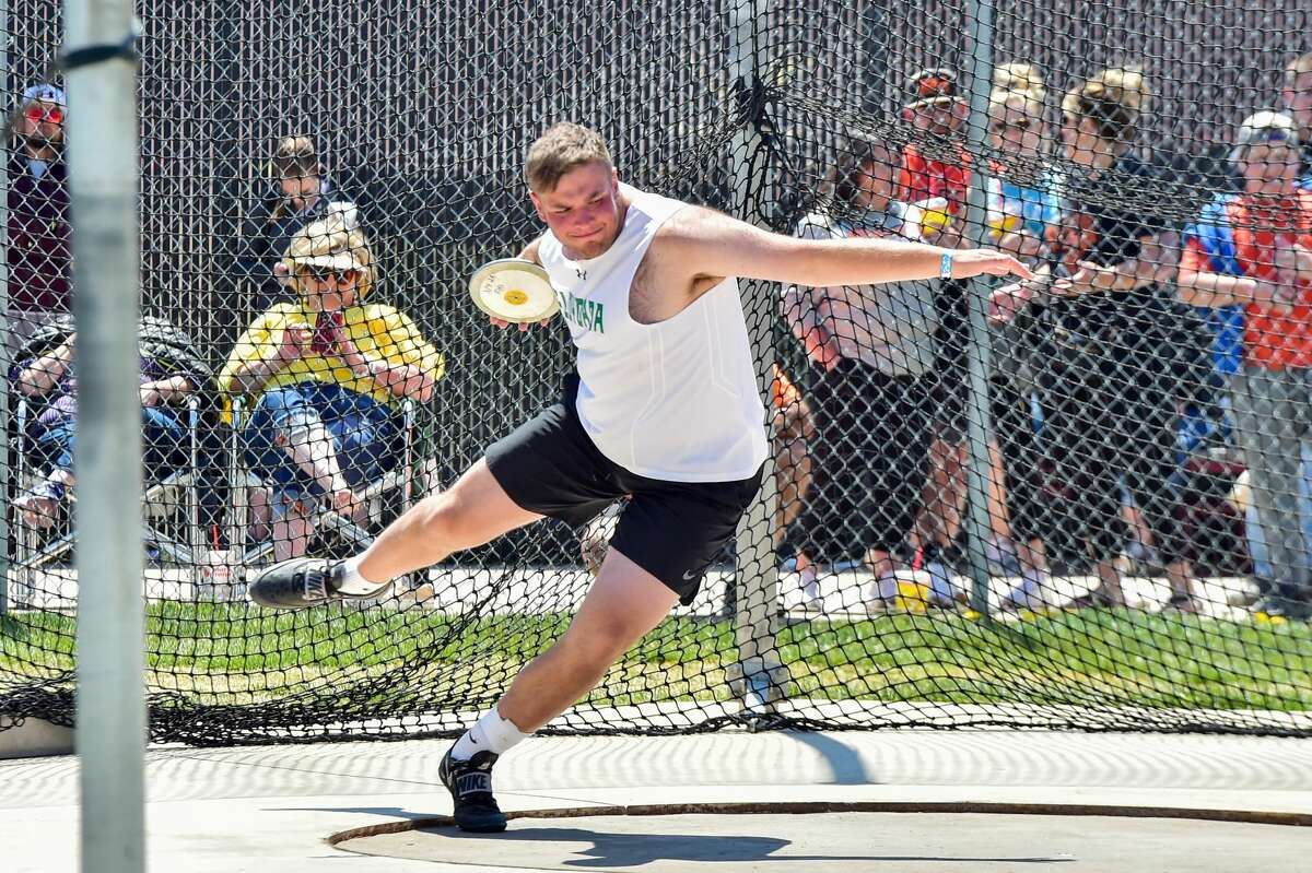 Floydada's Luke Holcombe will compete in both the discus and shot put during the UIL Class 2A State Track & Field Championships on Friday.