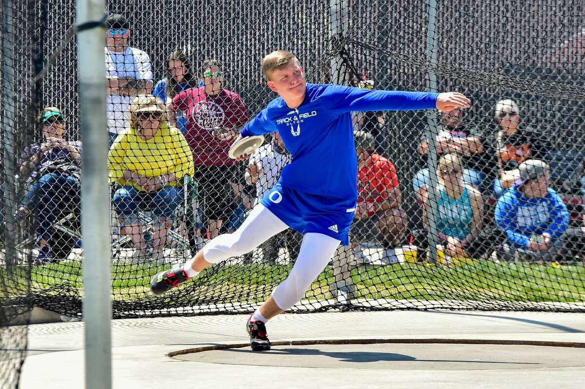 Olton's Jack Allcorn returns to the state track meet as he will compete in the Class 2A discus.