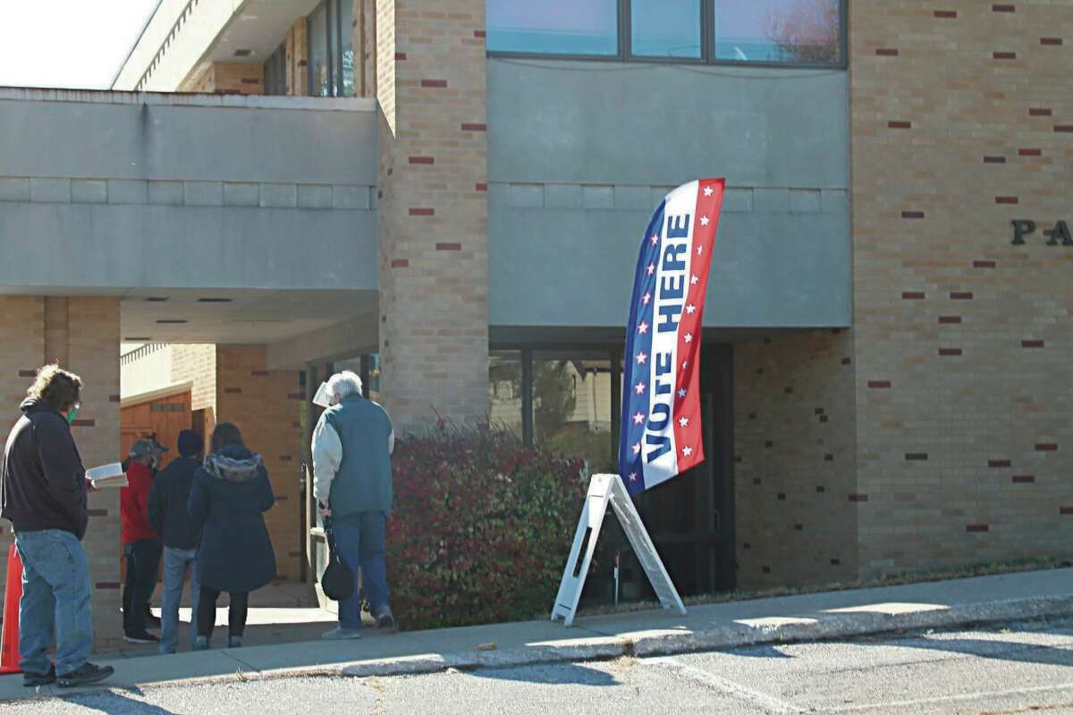 Residents waited in line to vote at Precinct 2 in the City of Manistee in November.The ballot for the May 4 election will include a bond proposal for Manistee Area Public Schools and a tax levy renewal for the West Shore Educational Services District. (File photo)