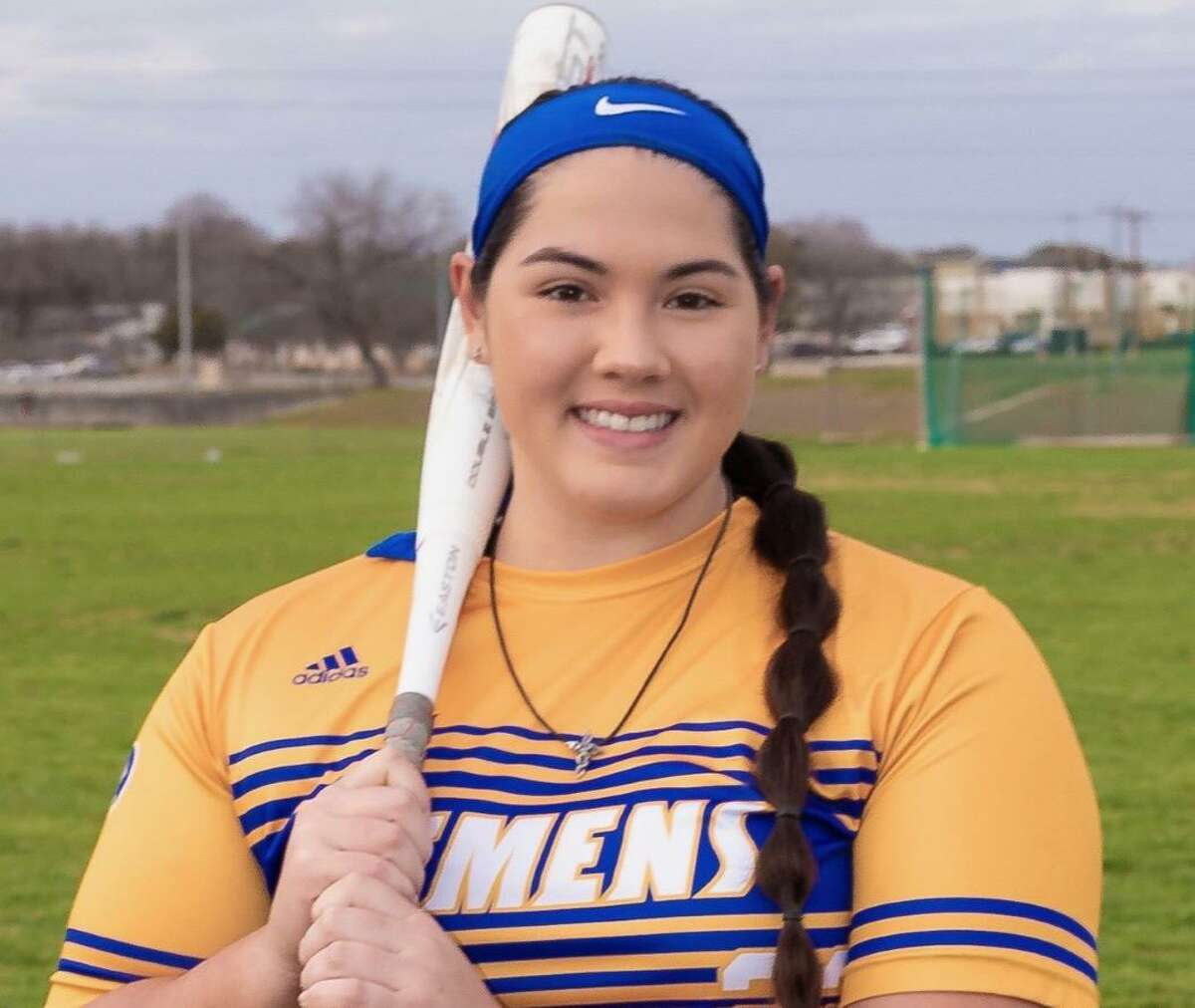 Kelsey Sample is a senior first baseman/pitcher for Clemens.