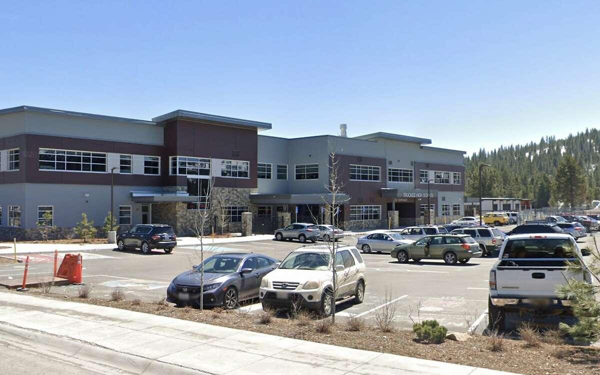 Truckee High School in Nevada County, Calif. where 32 coronavirus cases were confirmed on Sunday.