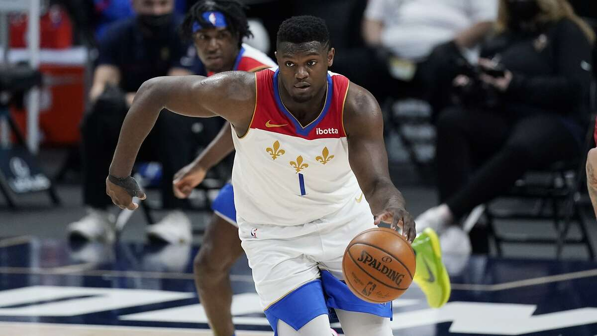 Forward Zion Williamson and the Pelicans host the Warriors for the second consecutive day at 5 p.m. Tuesday (NBCSBA+/95.7).