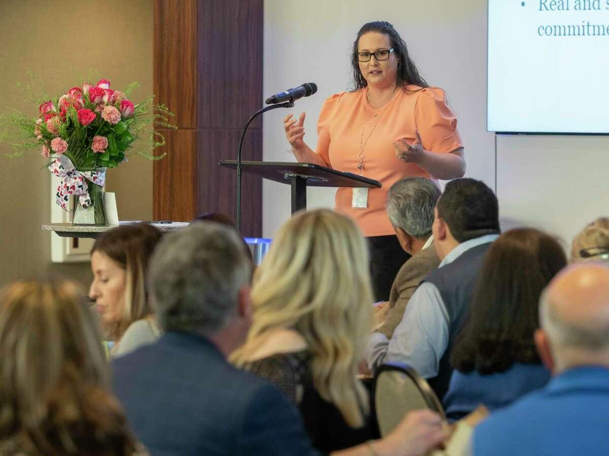MISD Superintendent Angelica Ramsey speaks in May during the Midland PTA luncheon. Tim Fischer/Reporter-Telegram