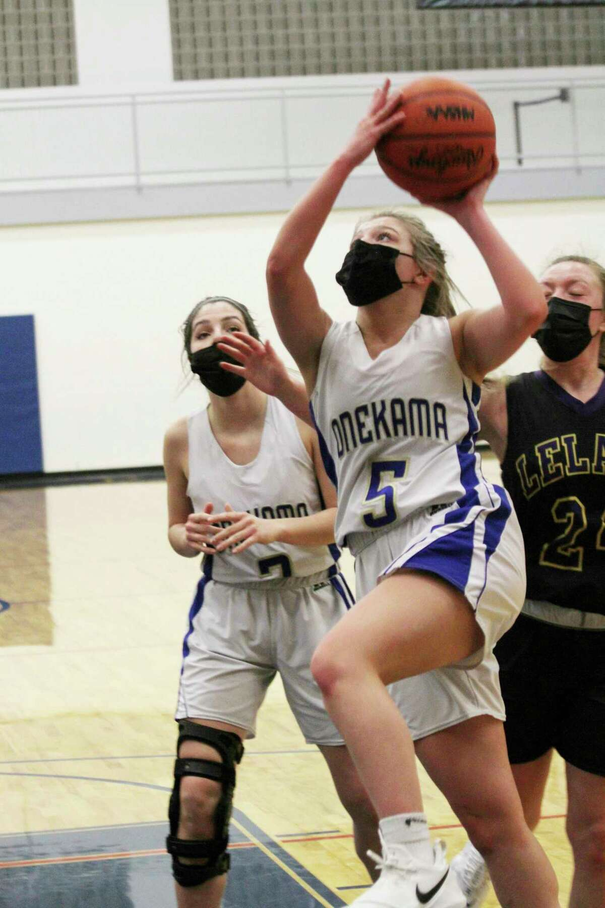 Onekama's Ajah Fink received the Outstanding Senior Student Athlete Award by the Basketball Coaches Association of Michigan. (News Advocate file photo)