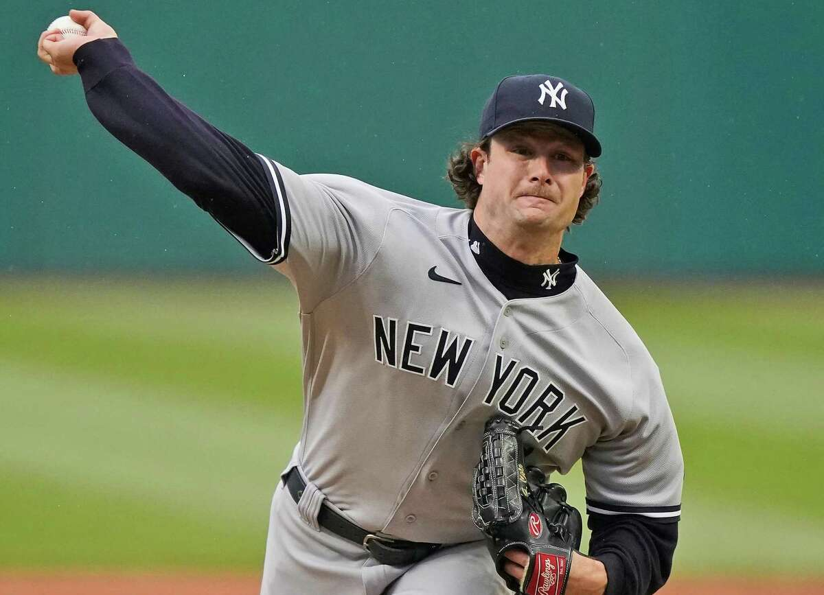 Yankees ace Gerrit Cole, who is 4-1 with a 1.43 ERA and 0.72 WHIP, was named the American League's Pitcher of the Month for April.