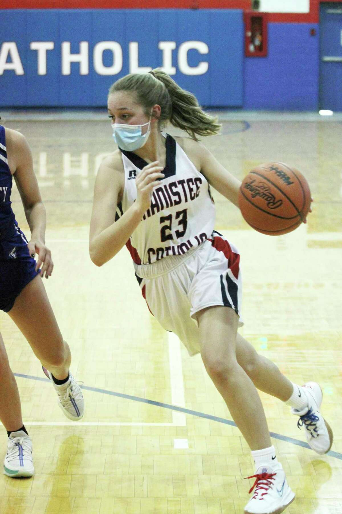 Manistee Catholic Central's Rachel Callesen earned the Team First Award by the Basketball Coaches Association of Michigan. (News Advocate file photo)