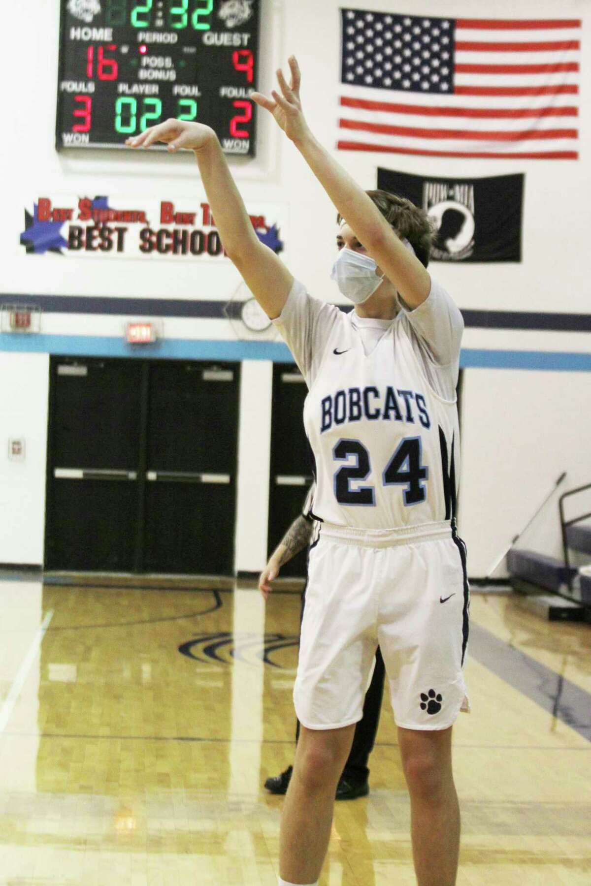 Brethren's Brady Fischer received the Team First Award by the Basketball Coaches Association of Michigan. (News Advocate file photo)