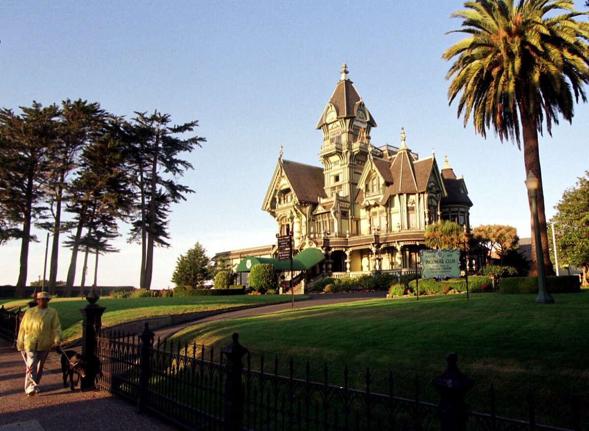 The Carson House mansion in Eureka, the biggest city in Humboldt County. Coronavirus cases are surging in the county, and its positive test rate is now three times the state figure.
