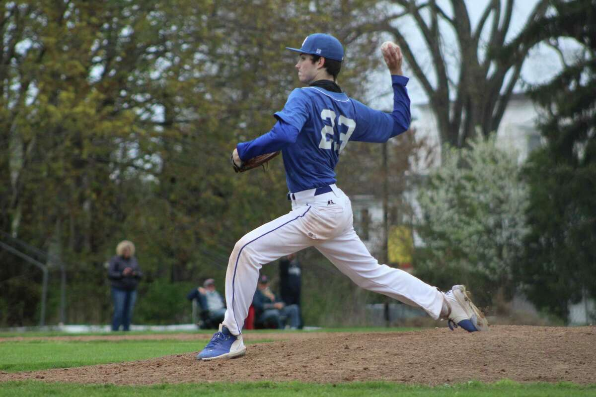 Old Saybrook starter Gabe Kaar did not allow an earned run in Monday's loss to Haddam-Killingworth.