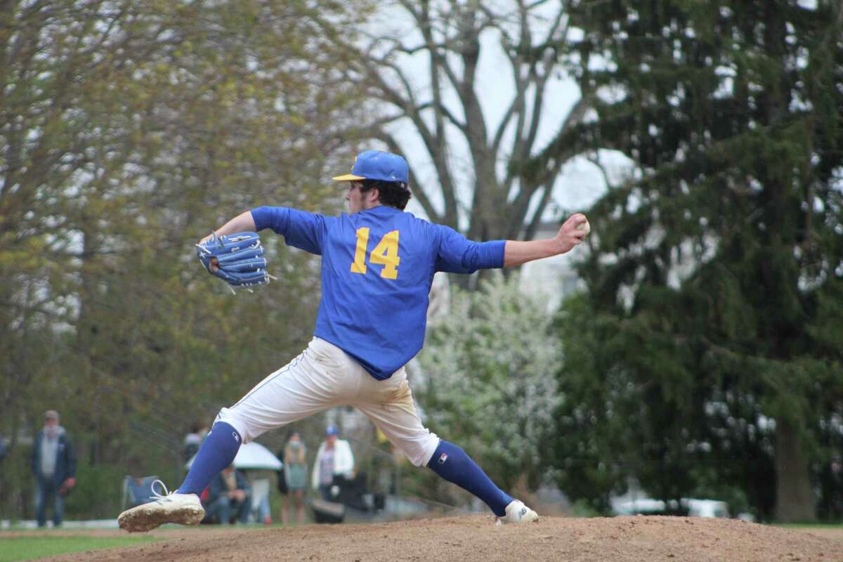 Haddam-Killingworth starter Alex Sheehan pitched one-hit ball for six innings and notched the win against Old Saybrook on Monday.