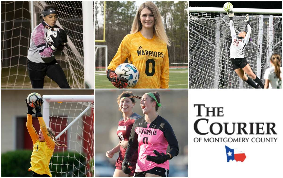 Alyn Zamudio (Caney Creek), Mattie Hopkins (TWCA), Sophia Dean (Grand Oaks), Isabella Hollenbach) and Taylor Sanderson (Magnolia) are nominees for The Courier's Goalkeeper of the Year.