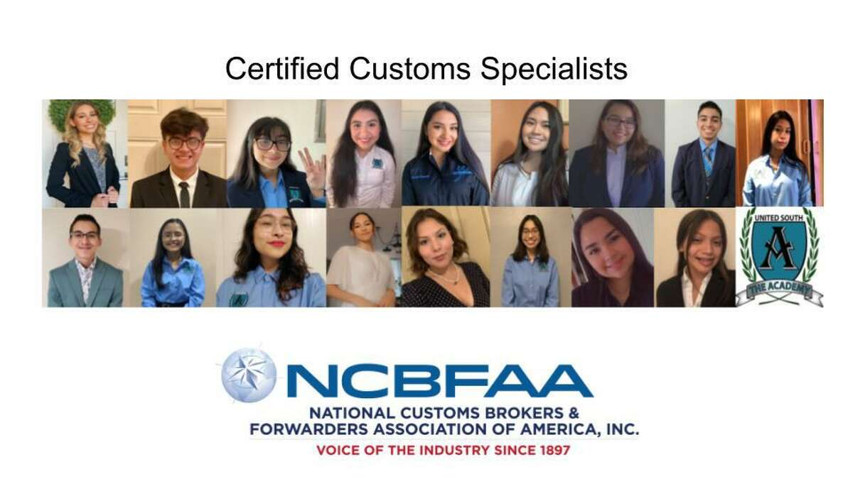 A total of 17 students from United South High School passed the Certified Customs Specialist exam from The Academy of Global Business and Advanced Technology.