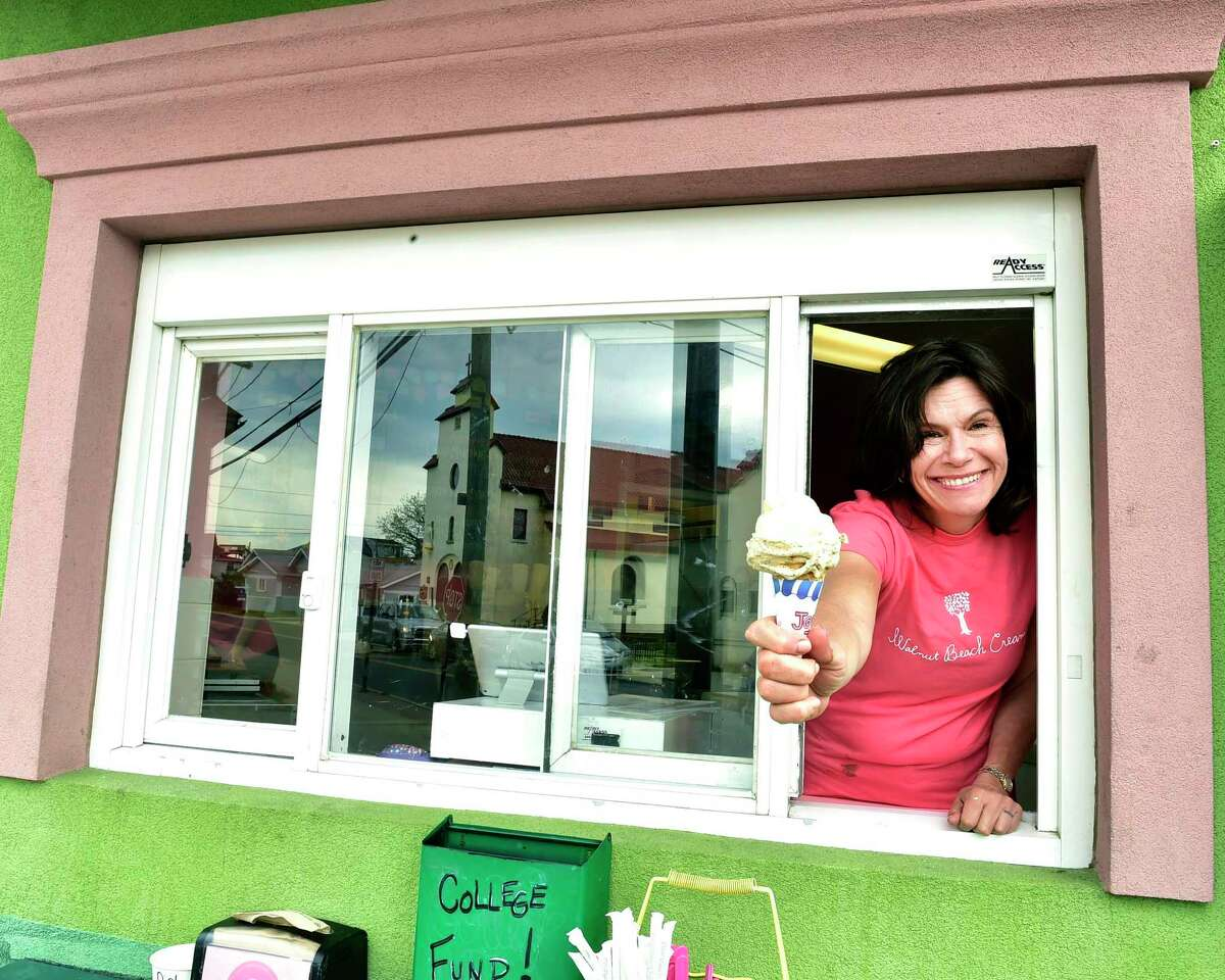 Susan Patrick, owner of Walnut Beach Creamery in Milford, a popular handcrafted ice cream shop.