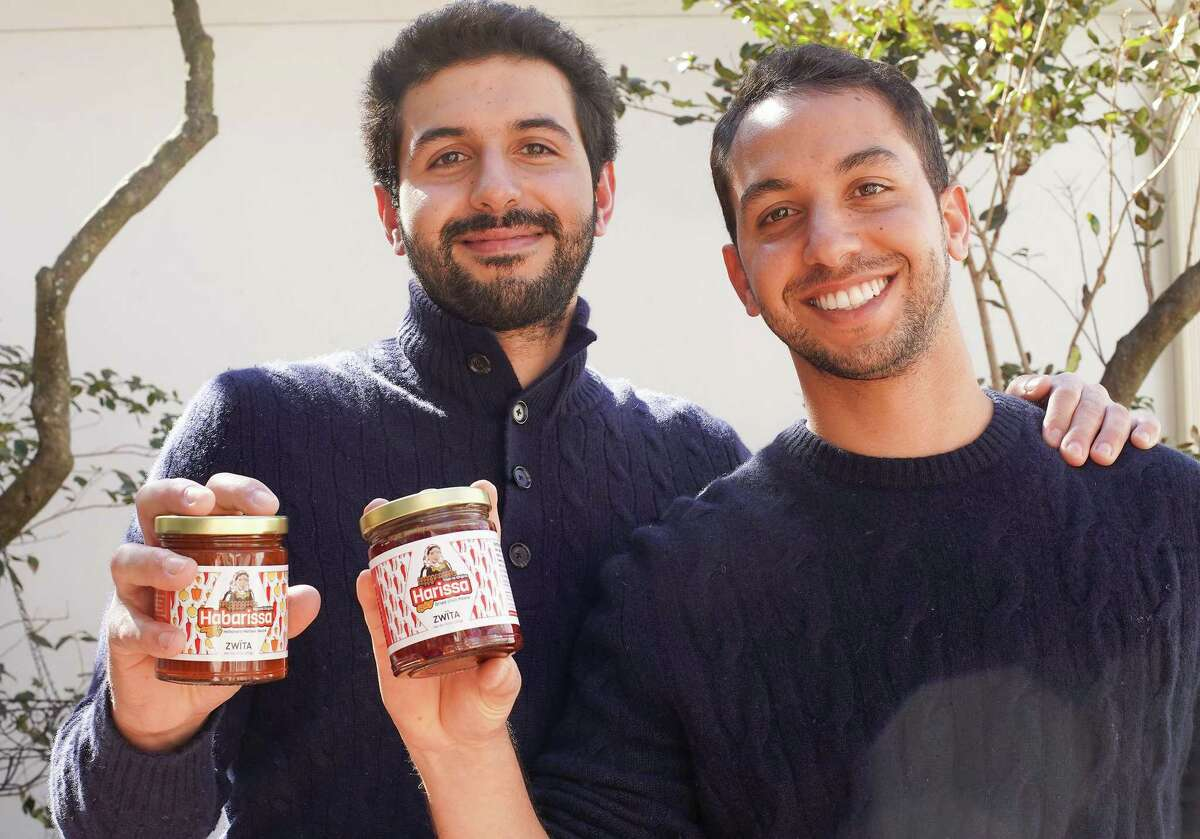 Zwita Foods owners Mansour, left, and Karim Arem in their Houston home on Wednesday, March 3, 2021. The brothers launched a line of specialty harissa based on their grandmother's recipe and Tunisian roots.