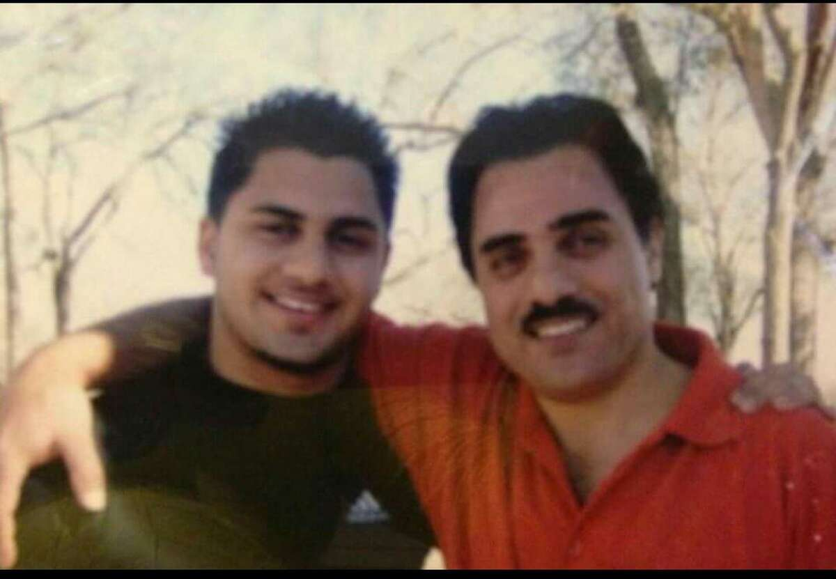 Jamail Amron, 23, with his father Ali Amron.