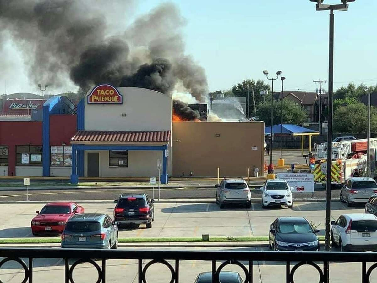 The Taco Palenque in north Laredo caught on fire on Monday evening.