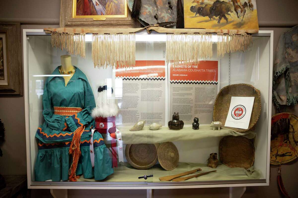 An exhibit in honor of the Alabama-Coushatta Tribe of Texas was added to the Heritage Museum of Montgomery County in Conroe, Saturday, Nov. 14, 2020. The exhibit will feature donated pieces from the tribe.