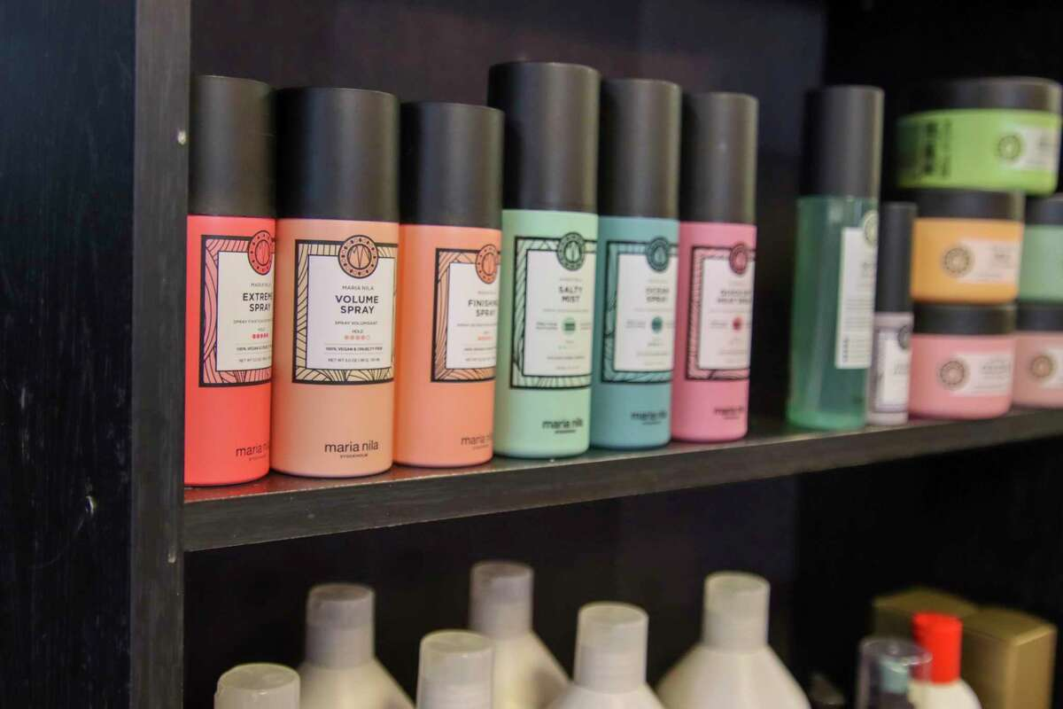 Blended carries a full line of Maria Nila products, which Harwood said are some of her favorites. (Scott Nunn/Huron Daily Tribune)