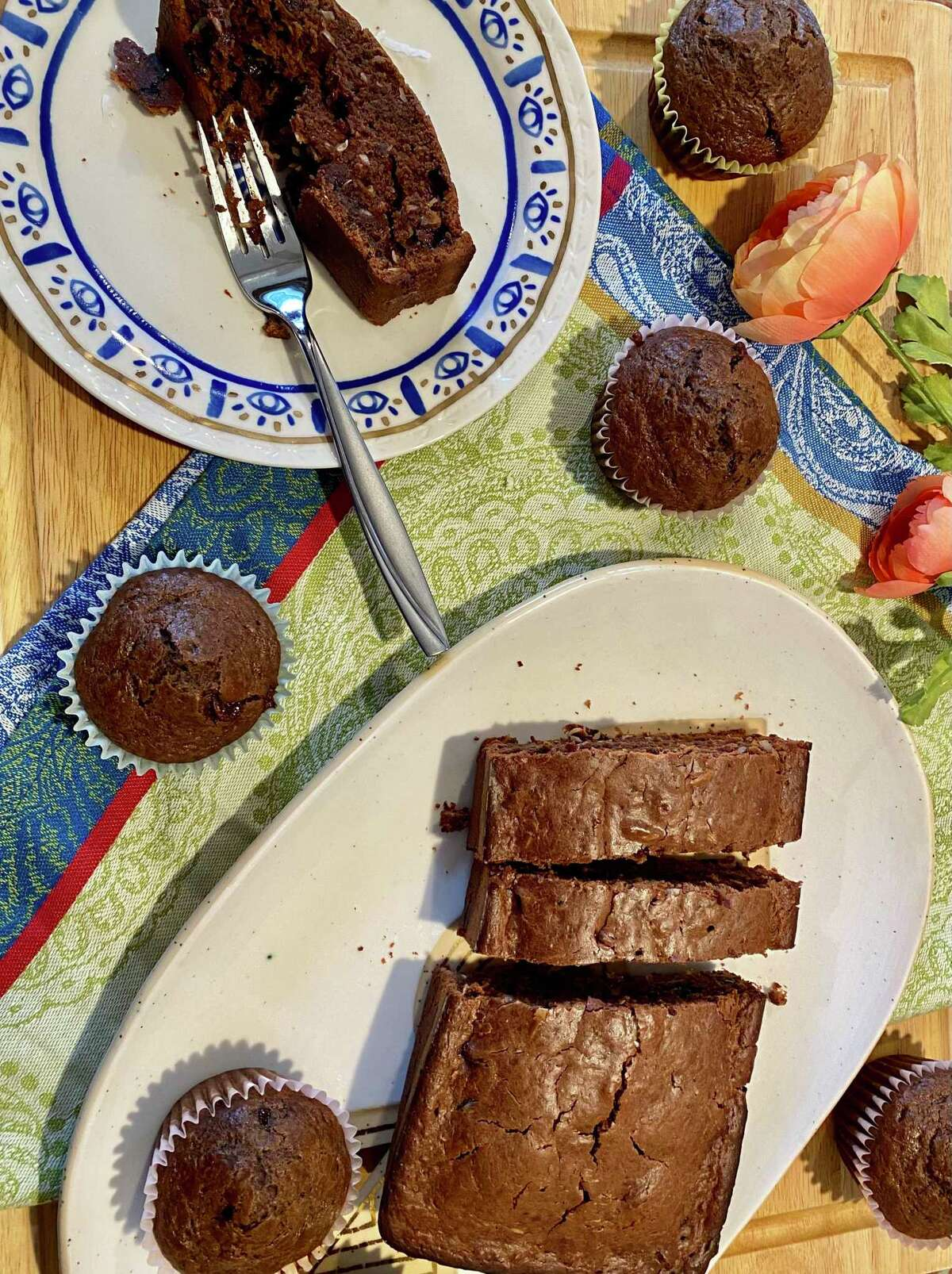 Sneak something healthy into your dessert with chocolate coconut zucchini bread.