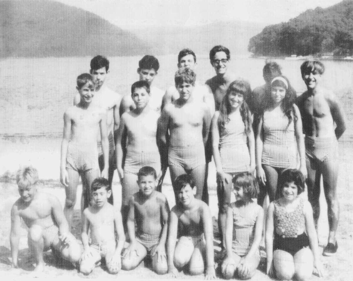 The Lake Waubeeka swim team in the 1960s.