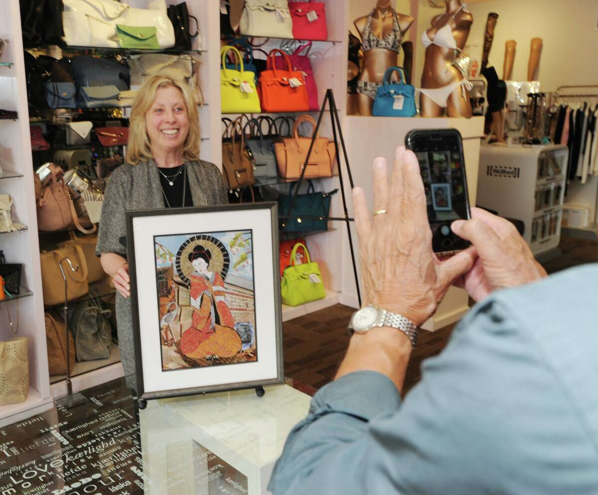 The opening night of Art to the Avenue, the Greenwich Arts Council's spring art celebration on Greenwich Avenue, Conn., Thursday, May 3, 2018.
