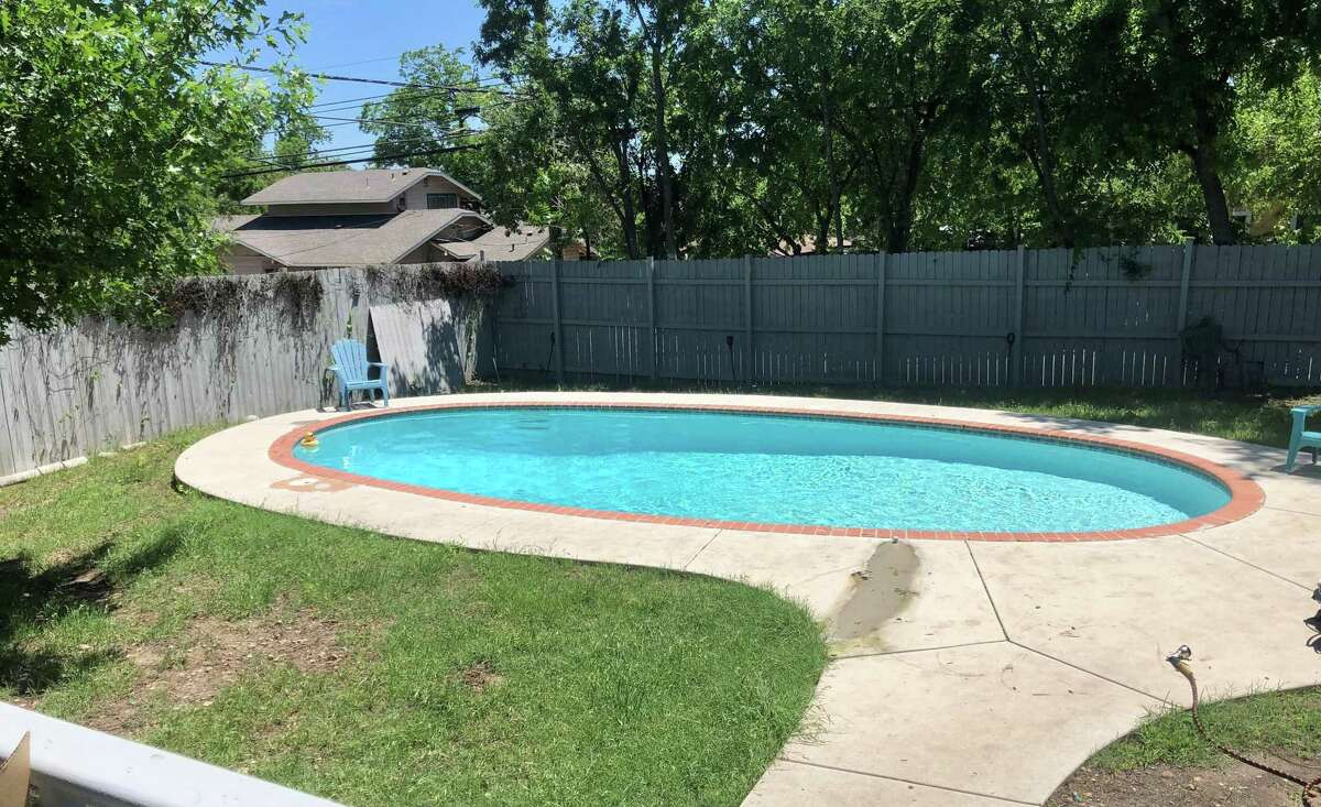 A backyard pool is an unusual amenity in homes in Beacon Hill.