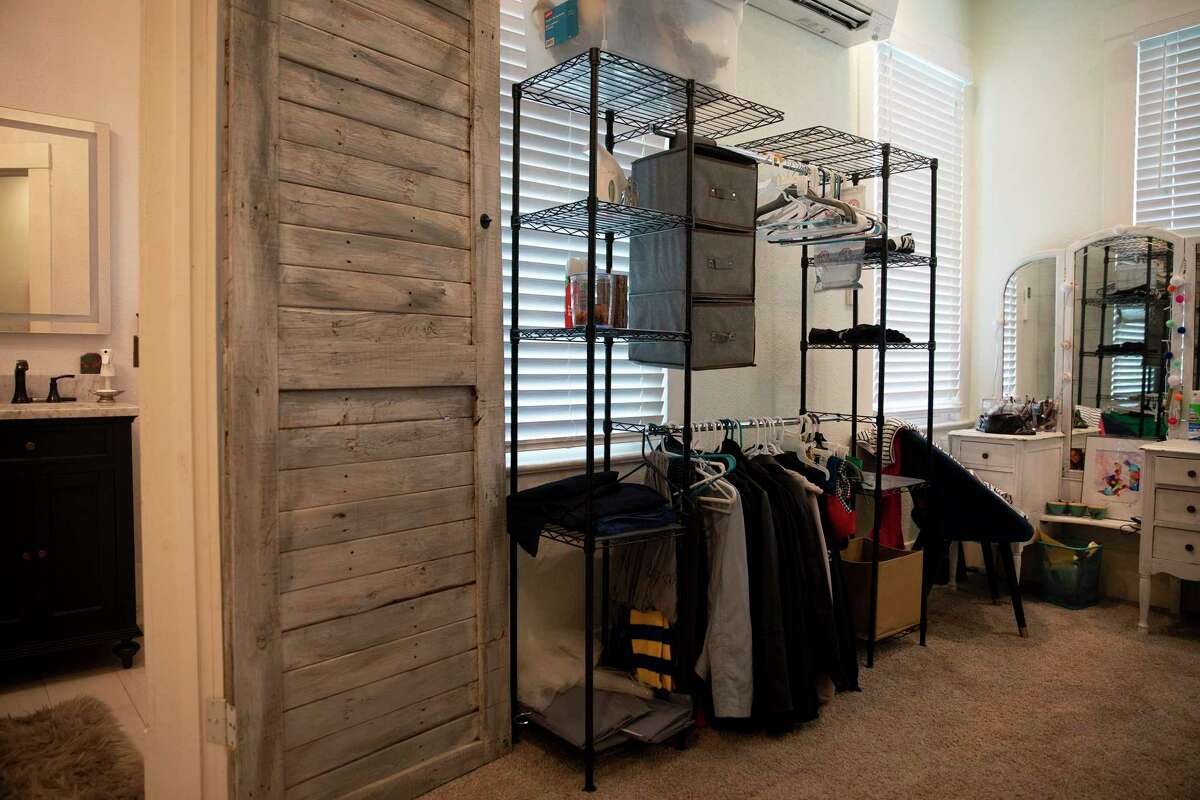 One of the spare bedrooms in this Beacon Hill home was converted into a master closet.