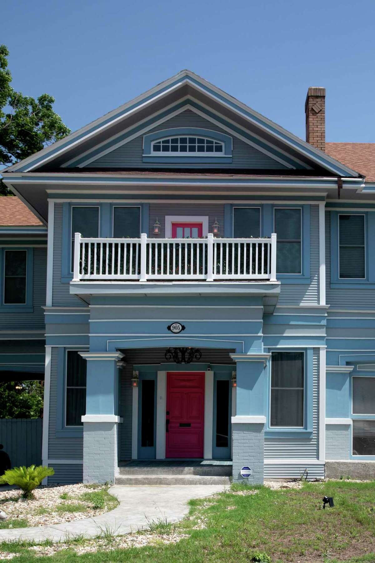 The exterior of the Beacon Hills home that has been remodeled by the current owners.
