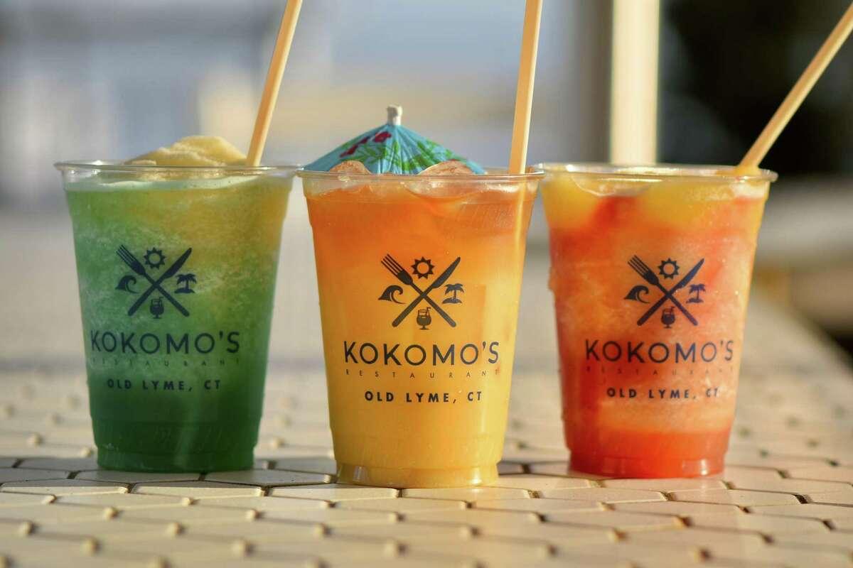 Frozen drinks at the beachfront Kokomo's Restaurant in Old Lyme