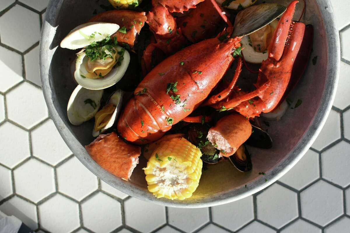 Seafood options at Kokomo's include a New England seafood boil with lobster.