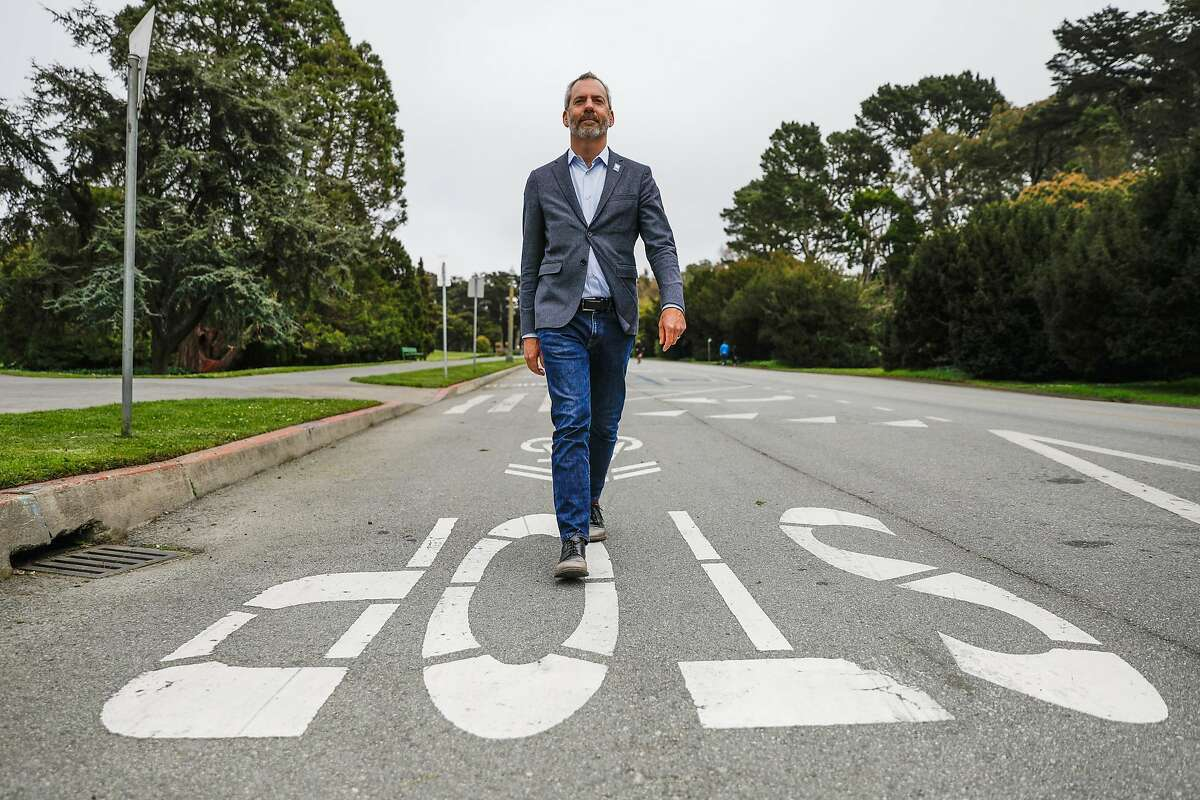 Jeffrey Tumlin, head of the San Francisco Municipal Transportation Agency, walks on JFK Drive in Golden Gate Park. Tumlin, who has worked in cities all over the world, says San Francisco is the most conservative when it comes to transit and housing.