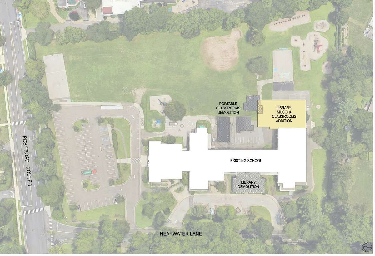 Northeast Collaborative Architects presented plans for renovations to Royle, Holmes, and Hindley Schools that would include the removal of portable classrooms.