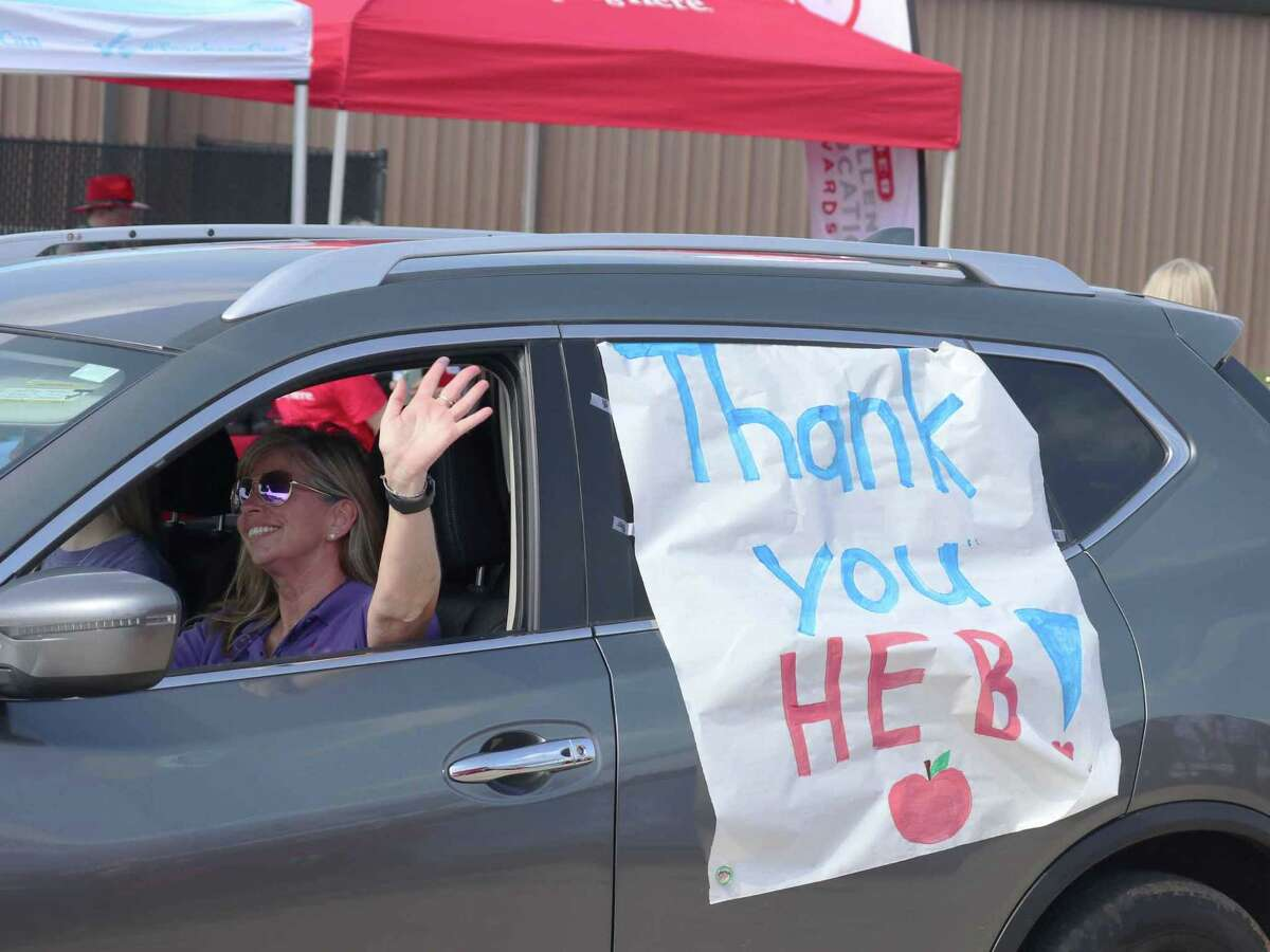 The Willis Independent School District was one of three districts in the state chosen for the stop on the H-E-B Excellence in Education Texas Loves Teachers Tour. The drive-thru showed teachers and staff support on Monday in Willis near the football stadium.