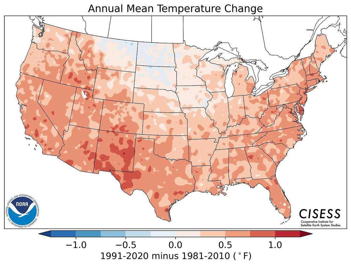 """The National Oceanic and Atmospheric Administration on Tuesday released its new """"climate normals."""""""